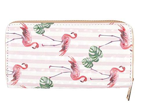 2 Rainbowgmbh Portamonete 228 Design Fenicottero Applicazioni Donna 231 Comic Rosa Portafoglio Ragazza Borsellino Fashion 20 X Fogliame Bt Alsino 10 Di Bt rA4Urpzn