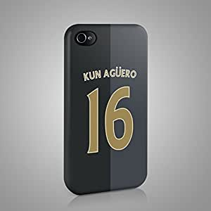 "SERGIO ""KUN"" AGUERO MANCHESTER CITY CASE HARD COVER FOR Candy Case - iPhone 4 4S Design 02"
