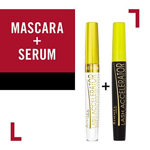 Rimmel Lash Accelerator Mascara Eye Makeup Kit, Extreme Black & Rimmel Lash Serum, 2 Count