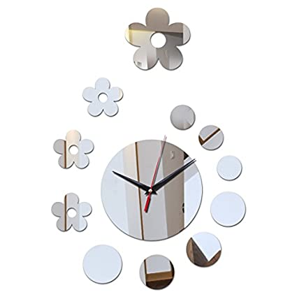 New Acrylic Wall Clock Reloj De Pared Decoration Mirror Clocks Wall Stickers Modern Quartz Watch Living