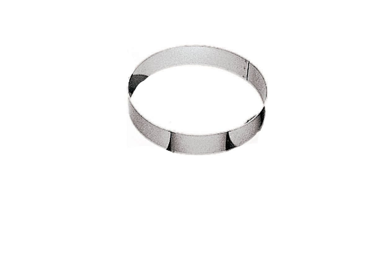 Paderno World Cuisine 9 1/2 by 2 Inch Entremet Pastry Ring 47530-24