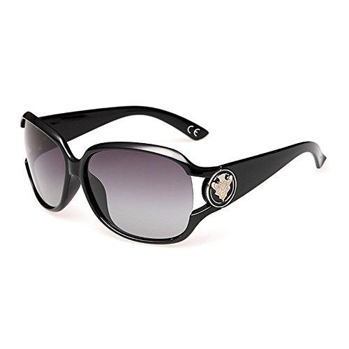 de Black Polarisées Lunettes Mode VeBrellen Classique Protection Soleil Femmes UV Lunettes 4wtxxp6vnq