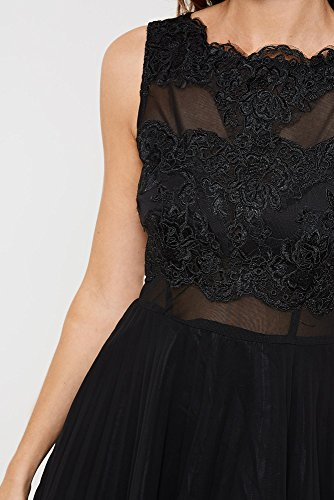 AX Paris Mesh Skirt Lace Skater Dress From Brand Attic: Amazon.co.uk: Clothing