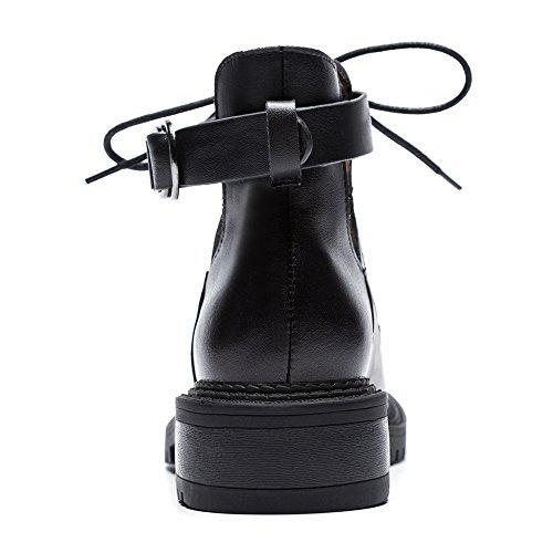 38 Blacka Stivaletti Donna WSXY Pelle Autunno E Q3001 KJJDE Stivali Stringati Nubuck Inverno 7wPnxzqC