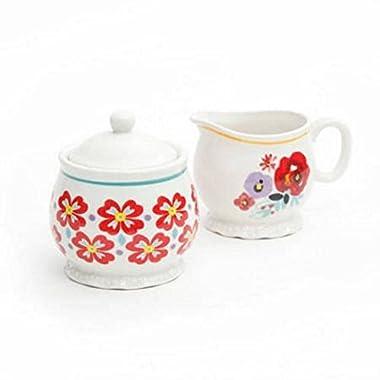 Pioneer Woman Creamer and Sugar Bowl Set