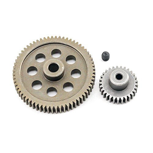 (HSP 11184 11189 Diff Metal Spur Gear 64T & Pinion 29T for Redcat Volcano EPX/PRO)