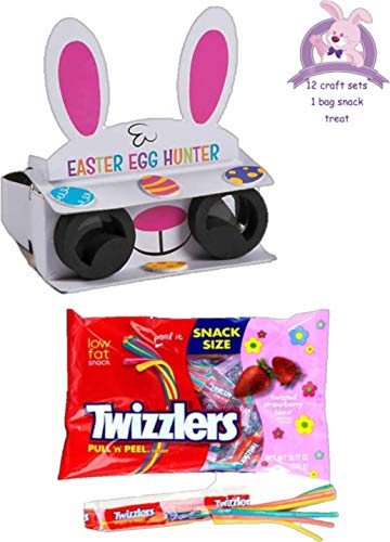 GBBD Easter Craft Kits for Kids Binoculars to Hunt Eggs - Set of 12 Bundled with an Extra Treat of Candy