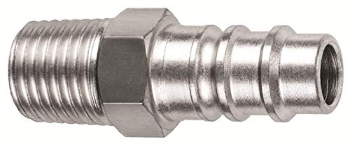 (Amflo CP91 Hi-Flow Steel Air Line Coupler Plug ('V-Style' X 1/4