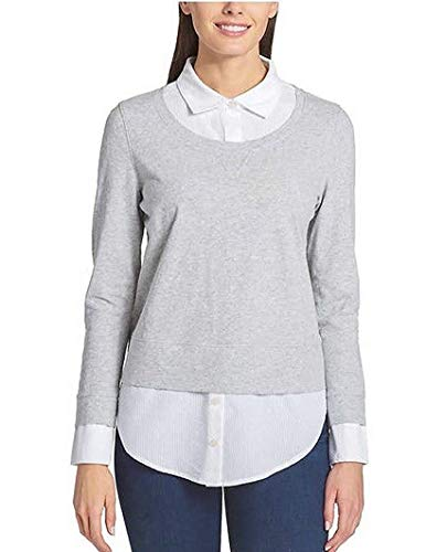 (Tommy Hilfiger Ladies' 2-fer Blouse, Variety (S, Grey))