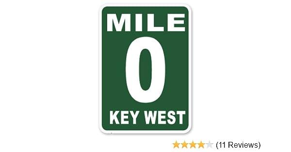 Amazon com mile 0 mile marker key west vinyl sticker car phone helmet select size home kitchen