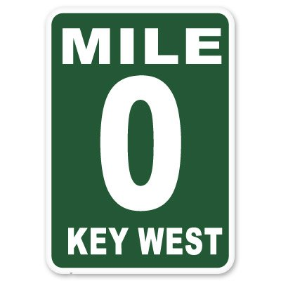 Key West Mile Marker Zero Sticker