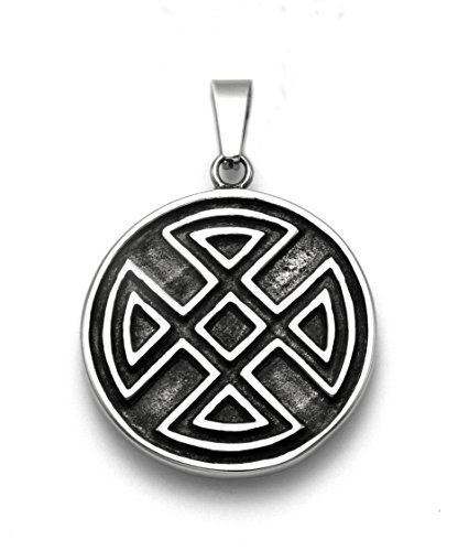 Stainless Steel Round Celtic Cross Pendant