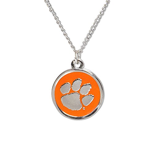 Clemson Tigers Jewelry - Fan Frenzy Gifts NCAA Clemson Tigers Paw Cutout Necklace