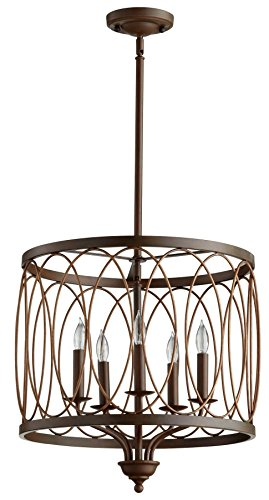 Cyan Design Sausalito Vermillion Cinder Five-Light Pendant