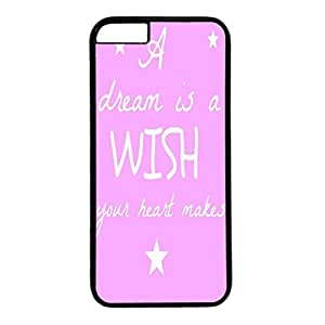 Iphone 6 case ,fashion durable black side design phone case, pc material phone cover ,with art words.