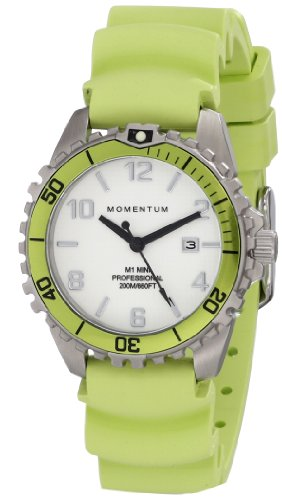 Women's Quartz Watch | M1 Mini by Momentum | Stainless Steel Watches for Women | Dive Watch with Japanese Movement & Analog Display | Water Resistant ladies watch with Date (Omega Quartz Bracelet)
