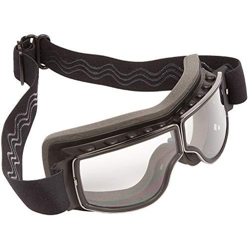 PiWear® Nevada klar Motorradbrille für Brillenträger geeignet Überbrille Brille über Brille für Helm beschlagfrei…