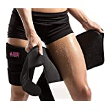 Sweet Sweat Thigh Trimmers with Bonus Sweet Sweat Workout Enhancer Sample | Includes 2 latex-free Neoprene Thigh Trimmers for Women & Men | One Size fits Most