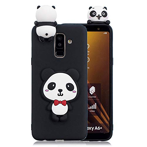 3D Cartoon Animal Case for Xiaomi Pocophone F1,Yobby Xiaomi Pocophone F1 Cute Kawaii Pattern Case Slim Soft Flexible Rubber Silicone Shockproof Protective Back Cover-Panda Red Bow