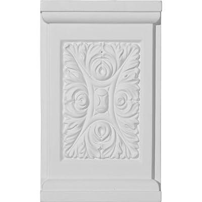 Ekena Millwork PB05X08X01ME 5 1/4-Inch W x 8 5/8-Inch H x 1 1/4-Inch P Medway Plinth Block