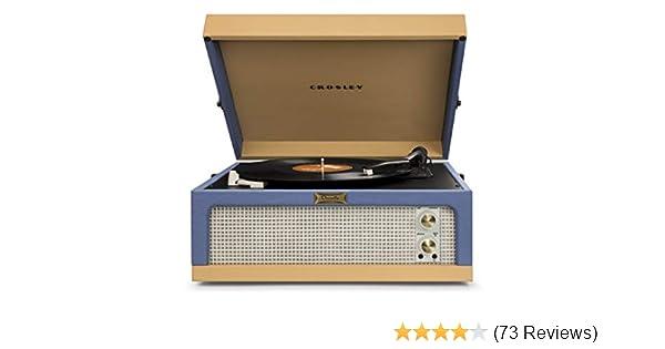 Blue And Tan Crosley Dansette Junior Vintage-Style Portable Turntable