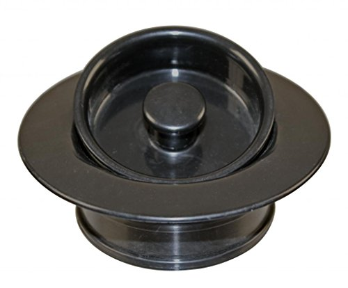 Westbrass Universal Replacement Disposal Flange and Stopper, Matte Black, (Black Replacement Flange)