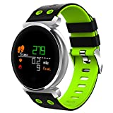 Buybuybuy Fitness Tracker, K2 Smat Watch 0.95 inch Colorful Screen IP68 Waterproof Pedometer, Heart Rate Monitor, Sleep Monitor Call Reminder Functions Android & iOS Smart Wristbands (Green)