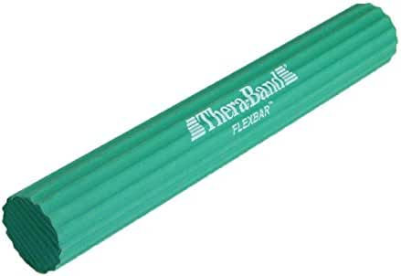 TheraBand FlexBar Resistance Bar For Preventing Tendonitis and Improving Grip Strength, Tennis Elbow, Golfers Elbow, Tendinitis, Green, Medium, Intermediate