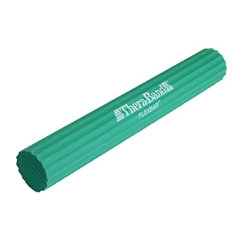 TheraBand FlexBar Resistance Bar For Medial Epicondylitis, Prevent Tendonitis and Improve Grip Strength, Relieve Pain From Tennis Elbow, Golfers Elbow, and Tendinitis, Medium, Intermediate