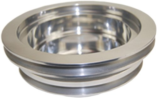Mota Performance A70460 BBC CHEVY 3 Groove Aluminum Crank Pulley Long Water Pump (Aluminum Pulley Chevy)