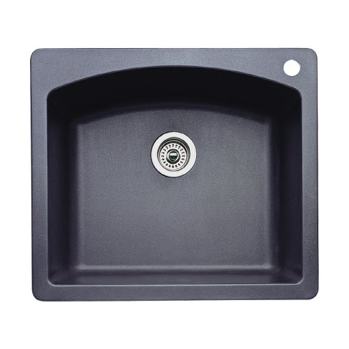 Blanco 440210 Diamond Single-Basin Drop-In or Undermount Granite Kitchen Sink, Anthracite