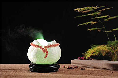 PROW 600ML Creative Multicolor Water-drop Shape Flower Dud Ultrasonic Cool Mist Ceramics Humidifier Aroma Essential Oil Diffuser for Office Home Bedroom Living Room Study Yoga Spa (Flower Shapes)