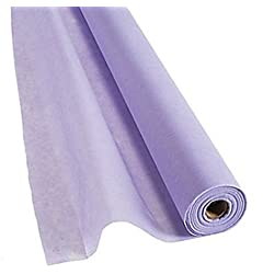 Lilac Gossamer Roll 100 FT X 3 FT Wedding Aisle Decoration Table Cover, Dropback