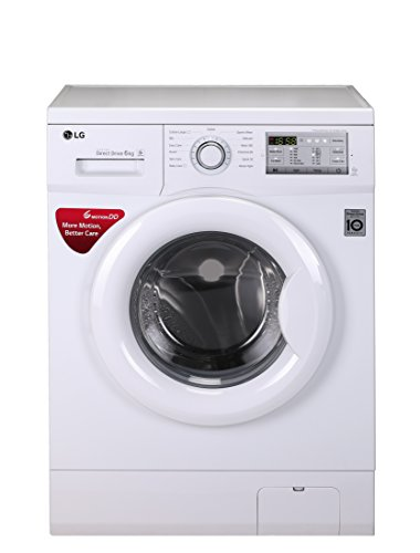 LG 6 kg Inverter Fully-Automatic Front Loading Washing Machine (FH0FANDNL02, White, Inbuilt Heater)