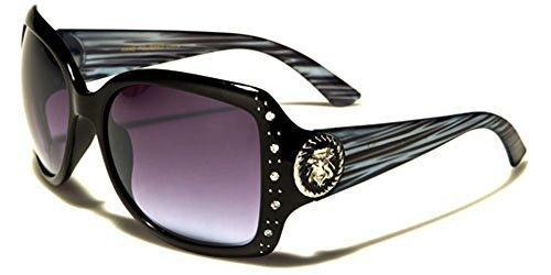 Noir Protection LENTILLE DE volant Femme sport RECTANGLE Hutt dégradée LUNETTES microfibre au STYLE poche complet vibrant UV400 Bleu Kleo SOLEIL vwUEBOqYY