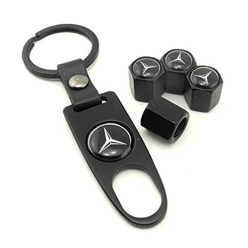 idoood-high-quality-steel-car-air-tire-valve-caps-and-black-keychain-combo-set-for-mercedes-benz