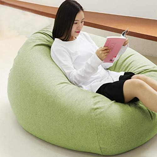YQQ-Puff Bolsa De Frijoles Sillón Reclinable Bolsa De Frijol Gigante Relleno Asiento Beanbag De Juego Muebles De Jardín Interior/Exterior (Color : Green, Size : 100x115cm): Amazon.es: Hogar