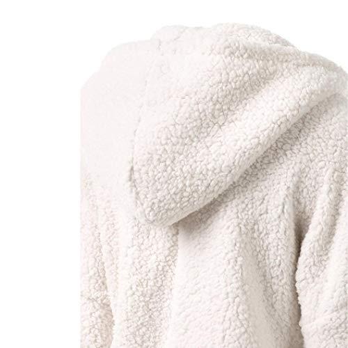 Hooded Hiver Solid Zipper Laine Sweat Blanc en d'hiver Manteau Outwear Peluche Chaud DEELIN Coton Manteau Femmes Manteau tEdwaq