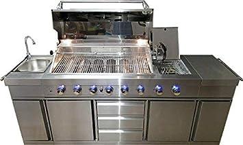 7 zonas de pie grabadora de barbacoa de gas grill barbacoa 8 ...
