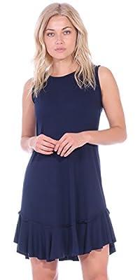 Popana Women's Casual Summer Tank Midi Dresses Knee Length Beach Sundress Made in USA