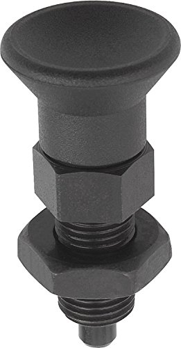 M24 x 2 Thread Metric Kipp 03089-12516 Stainless Steel Indexing Plunger Natural Finish 96 mm Length Pull Knob B Style Locking Pin Not Hardened