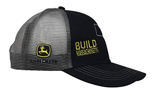 John Deere Build State Pride Cap-Black and Gray-Massachusetts ()