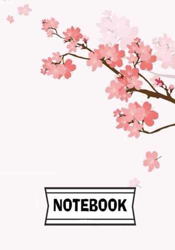 "Notebook: Cherry blossom : Journal Diary, 110 Lined pages, 7"" x 10"""