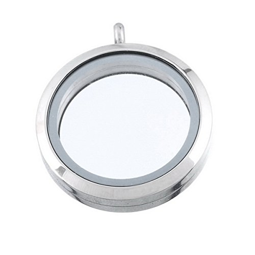 HOUSWEETY Stainless Floating Pendant 3 6cmx3cm