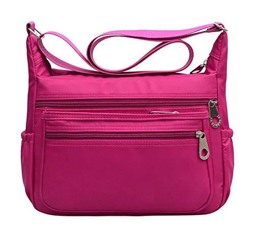 Red Messenger Gdlxl Viaje Mujer Mano purple Bolso Impermeable Bandolera Bolsos De Bag 1003 Bolsas Exull Nylon Moda Sport TTnrqzO
