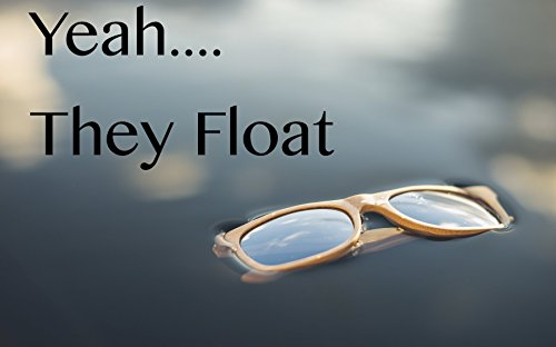 Bamboo Wood Sunglasses -Polarized handmade wooden shades in a wayfarer that Floats by 4est Shades (Image #6)