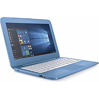 HP Stream 11.6 inch Flagship Laptop, Intel Celeron Core up to 2.48GHz, 4GB RAM, 32GB Solid State Drive, WiFi, Bluetooth, Webcam, USB 3.0, Windows 10 Home, Blue (Renewed)