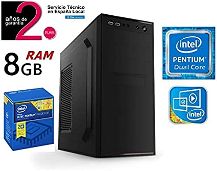 PC Ordenador Sobremesa Intel Pentium Dual Core | Disco SSD 240GB + ...