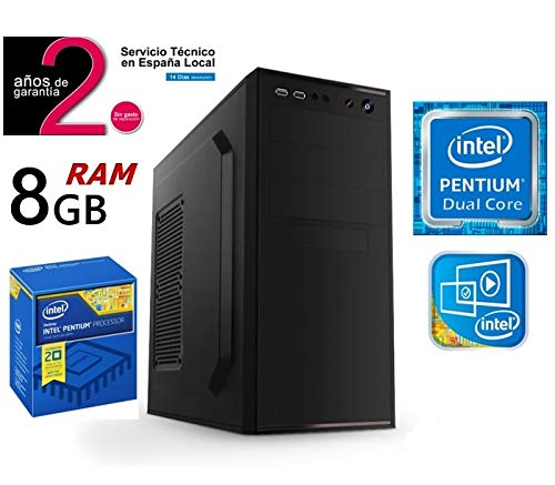 PC Ordenador Sobremesa Intel Pentium Dual Core | Disco SSD 480GB + ...