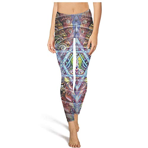 PLOKINC Yoga Pants for Women for Womens Workout Leggings Cool Trippy Abstract New Sport Workout Running Legging Workout Tights